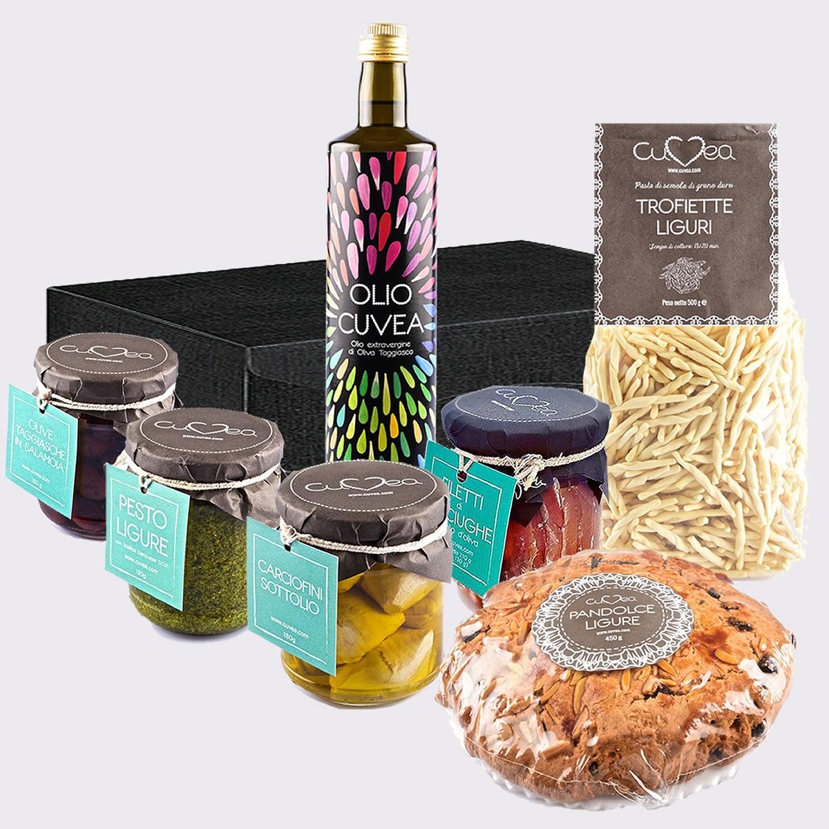 Cesto regalo prodotti tipici della Liguria